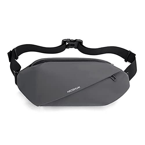 Bolsa de cintura delgada para hombre, diseño de apariencia minimalista, gran capacidad para teléfono móvil, bolsa de viaje para deportes al aire libre