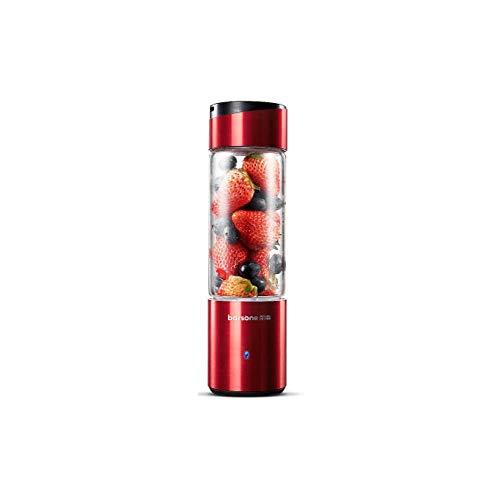 xmwm Licuadora portátil eléctrica Licuadora Licuadora Batidora de Frutas Licuadora USB Juicer Cup Machine Mini, Rojo