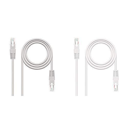 NanoCable 10.20.0120 - Cable de red Ethernet RJ45 Cat.5e UTP AWG24, Gris,...