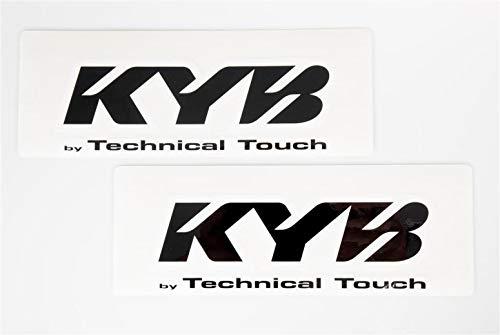 Kayaba Gabel Aufkleber KYB Racing Suspension TT 24x8,5cm transparent schwarz