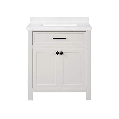 Ove Decors Oakland 30 Vanity from Bedford Collection, in White Picket Fence finish