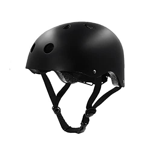 Tourdarson Skateboard Helmet Protection Sport for Scooter Skate Skateboarding Cycling (Black, Medium)