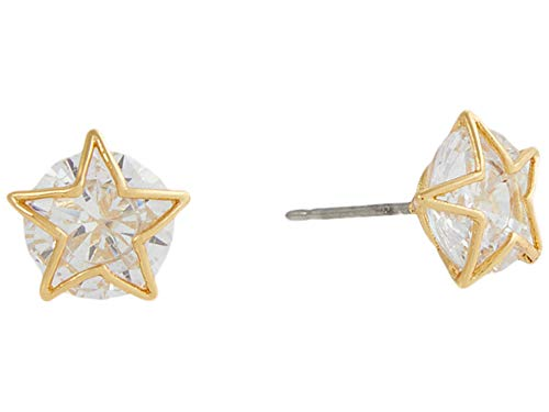 Kate Spade New York Something Sparkly Star Studs Earrings Clear/Gold One Size