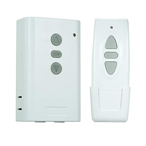 OWSOO AC220V 2CH 433 MHz Intelligente RF Drahtlose Fernbedienung Schalter System und 1 STÜCKE 3 Schlüssel RF 433 MHz Sender Fernbedienung 1527 Chip für Projektionswand Garage Tür Elektrische Vorhang