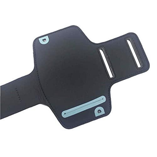 GGOOD Teléfono Celular Resistente al Agua Caja del Brazalete del Brazalete del Ejercicio Corriente de la Etiqueta de Cierre mágico Compatible Accesorios para el teléfono iPhone 5 5S Negro móviles