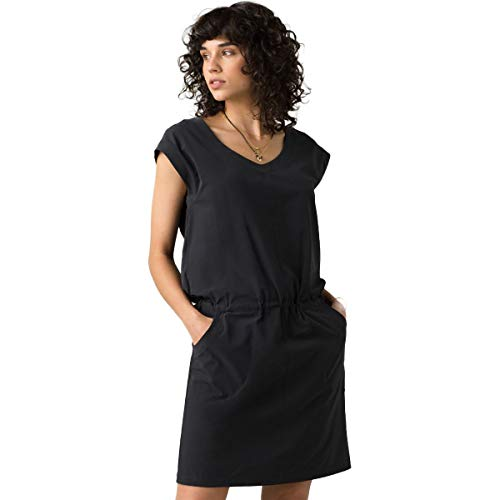 prAna Women's Norma Dress, Black, X-Small