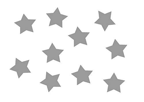 Miniblings 10x Bügelbilder Aufnäher 25mm GLATT Stern Farben Patch Bügelbild I Kinder Bügelflicken Patches zum Aufbügeln - Flexfolie - Applikation Nähen, Farbe:grau