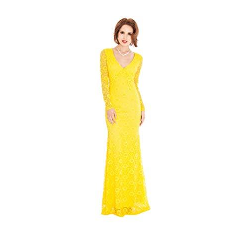 City Goddess lange jurk van kant met open rug