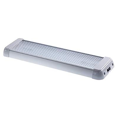 Raycharm 14.2 Inch 12.4W 1240 Lumen 6000K LED Light Fixture in Grey with Rocker Switch (1 Pack)