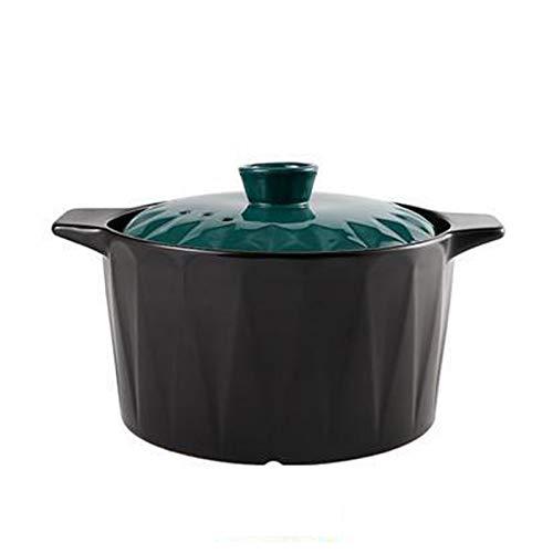 LDLL Cookware Kochtopf Keramikbeschichtung Bratentopf, Suppentopf FüR Steam Braise Bake Broil Saute Braten, Fleischtopf Mit Deckel