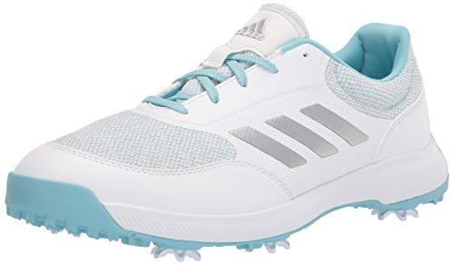 adidas womens Golf Shoe, White/Silver/Hazy Sky, 8.5 US