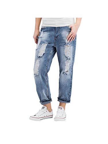 Sublevel Damen Jeans / Boyfriend Sofie blau XS (32)