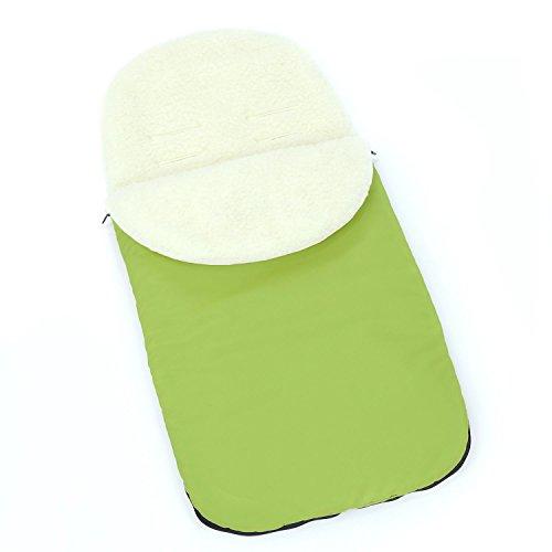 Universal saco lana forro carrito para bebé abrigo de invierno (verde)...