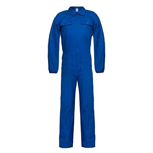 Ultra Combinaison de Travail pour Homme - Coton - Plusieurs Poches - Bleu Royal - L