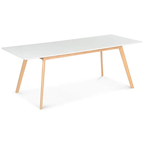 Table extensible rectangulaire style scandinave