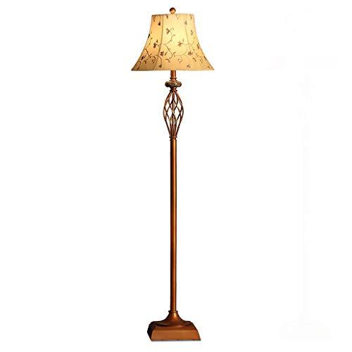 Tingting1992 Lámpara de pie Sala de Estar Dormitorio Lámpara de mesilla de Noche Rústico Retro Lámpara de pie Creativa