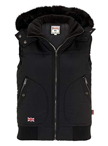 Lonsdale Damen Winterweste Ansty, Farbe:Black, Größe:2XL