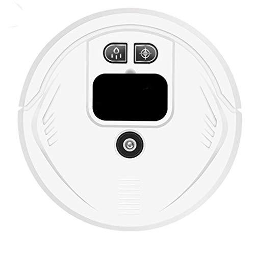 Gossttui. ● ● Wi-Fi Smart Navigation 360 ° Hartbodenstaubsauger, Smart Sweeper, Protectio für Tierhaare für Wohnzimmer Teppiche Schlafzimmer (Color : White)