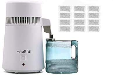 HaoFst Fully Upgraded 110V 750W 4 Liter Countertop Distilled Water Purifier...