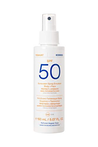 KORRES YOGHURT Sonnenschutz Sprüh-Emulsion für Gesicht & Körper SPF50, 150 ml