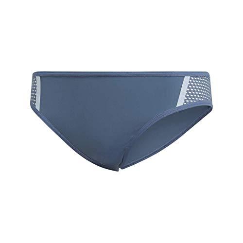 adidas Damen Badehose Beach Wear Bikinihose, Damen, Badeanzug, Beach Wear Bikini Bottom Swim Bottom, Tech Ink/Glow Blue, Medium