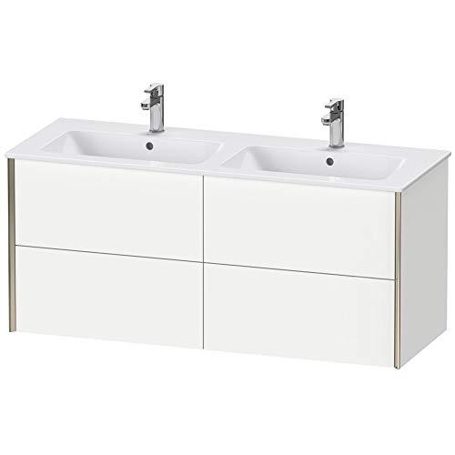 Duravit XViu 4129 Waschtischunterbau wandhängend, 4 Schubkästen, für Doppelwaschtisch ME by Starck 233613, 1280x480 mm, Farbe (Front/Korpus): Champagner matt/Eiche Cashmere