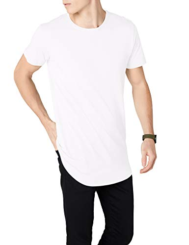Urban Classics Herren Shaped Long Tee T-Shirt, Weiß (White), XS
