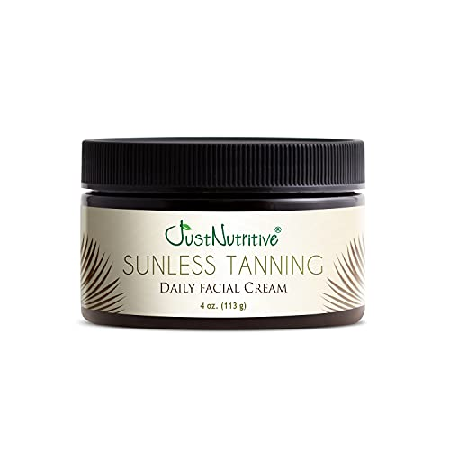 Sunless Tanning Daily Facial Cream   Self-Tanner   Sunless Tanning Lotion   Self-Tanning Lotion   Sunkiss Glow   Just Nutritive   4 Oz
