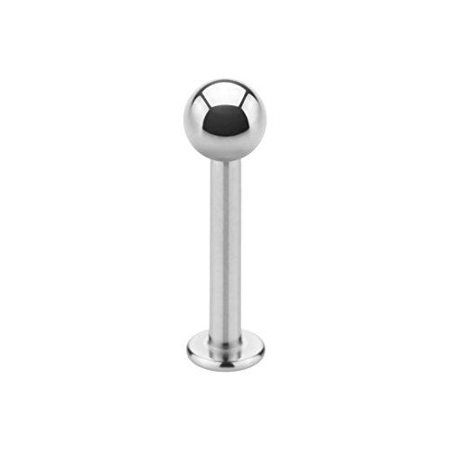 eeddoo Piercing Labret Helix 1 Stück Silber Edelstahl Stärke: 1,2 mm Länge: 8 mm