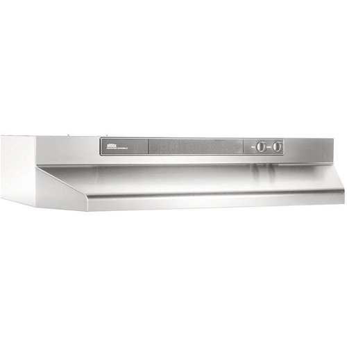 Broan-NuTone 464204 Under-Cabinet Range Hood with Infinitely Adjustable Speed Control, 42-Inch, Stainless Steel