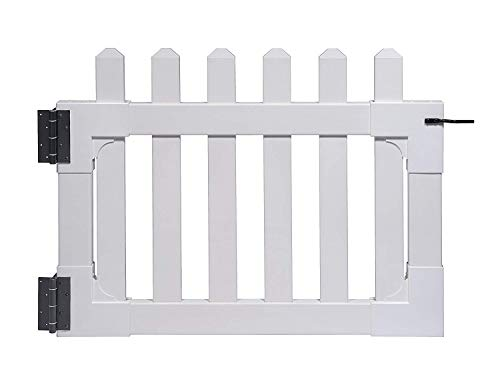"""Zippity Outdoor Products ZP19004 Newport Vinyl Picket Unassembled Gate, 31""""H x 41""""W, White (Pack of 2)"""