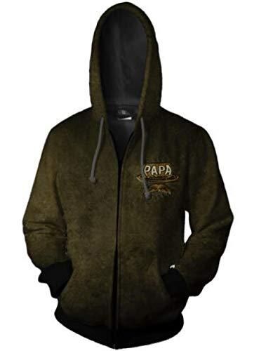 Preisvergleich Produktbild MADEYU Kapuzenpullover, Mythen Und Legenden Film Cosplay Serie Herren 3D Reißverschluss Hoodie Pullover Casual Mode Unisex Grün S