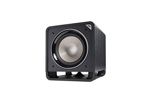 Polk Audio HTS 12 Aktivsubwoofer für Heimkino Soundsysteme und Musik, 12' Bass Box, 400 Watt, Schwarz