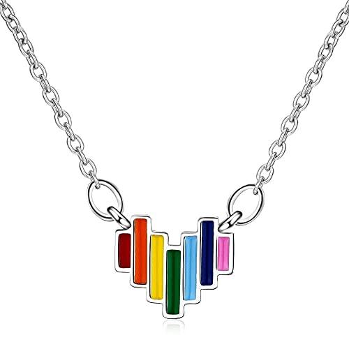 ZFAYFMA Un Regalo para Gays, Brazalete de Pareja, Brazalete de Cristal púrpura y Pulsera LGBT Gay con Acero Inoxidable a Rayas Vintage L
