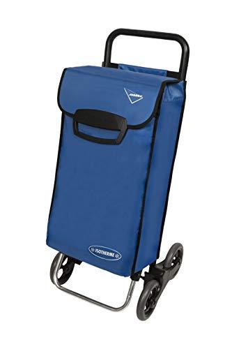 Aurora Einkaufstrolley mit 4 Rädern mit Gestell aus 100 % Aluminium und zusammenklappbarer Basis, ideal zum Abschleppen und Schieben.