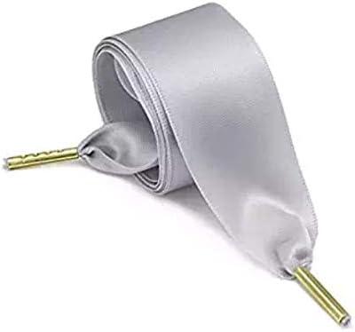 MY.SPORT 1 par de elegantes cordones de sat/én de seda lisa y brillante