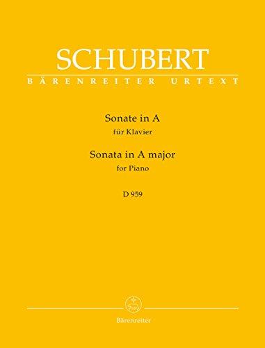 BARENREITER SCHUBERT F. - SONATA IN A MAJOR D 959 - PIANO Klassieke lakens Piano