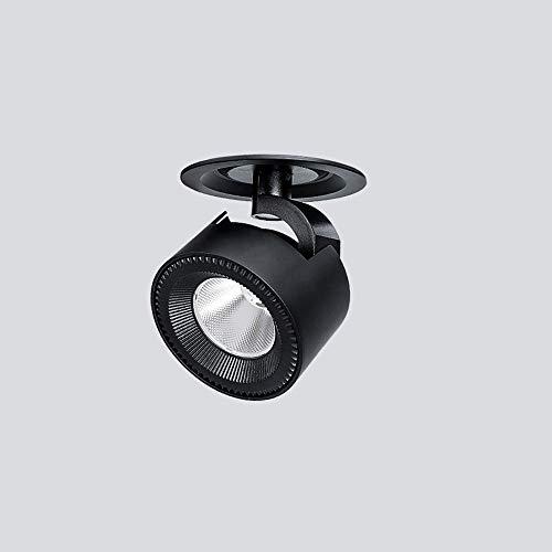 Kmnbgg Montaje en Superficie Empotrado Techo de Aluminio Negro Foco pequeño Luz...
