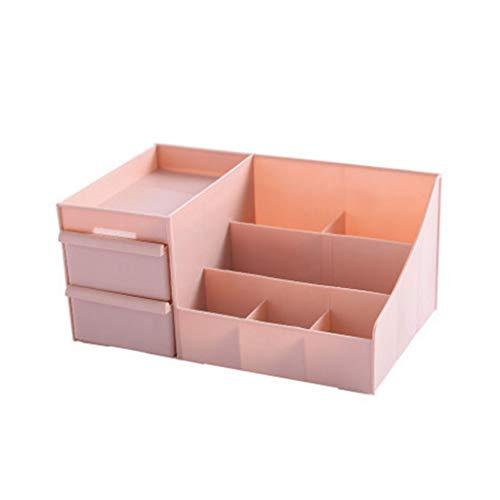 Zyj stores-Coffret Maquillage Boîte de Rangement pour cosmétiques (Color : Pink, Taille : L)