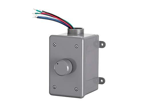 Monoprice OVC300 drehbarer 300 Watt Outdoor-Lautstärkeregler mit automatischer Impedanzanpassung, wetterbeständiges Gehäuse, für Außenanwendungen