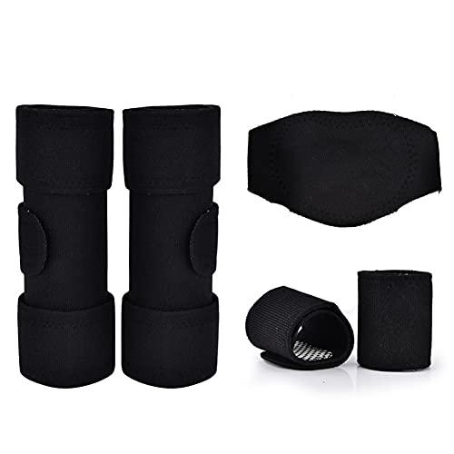 JHHXW Almohadillas de autocontrol Magnet Rodilla Cuello Brazalete Bracer 3 Piezas Juego, Negro