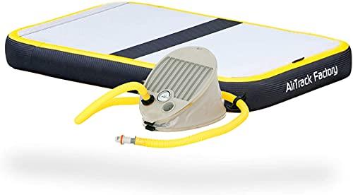 AirTrack Factory AirBoard Spark - Colchoneta hinchable para gimnasia, con bomba de pie