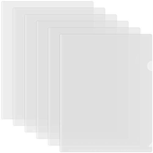 Clear Document Folder, Plastic Project Pockets for Letter Size Paper, Pack of 30