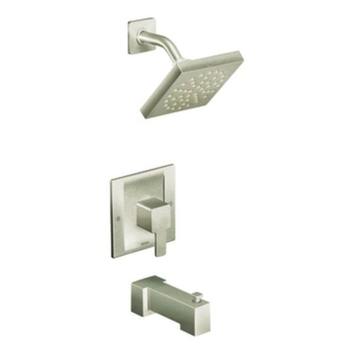 Moen TS2713BN 90 Degree Posi-Temp Tub/Shower Trim Kit without Valve, Brushed Nickel
