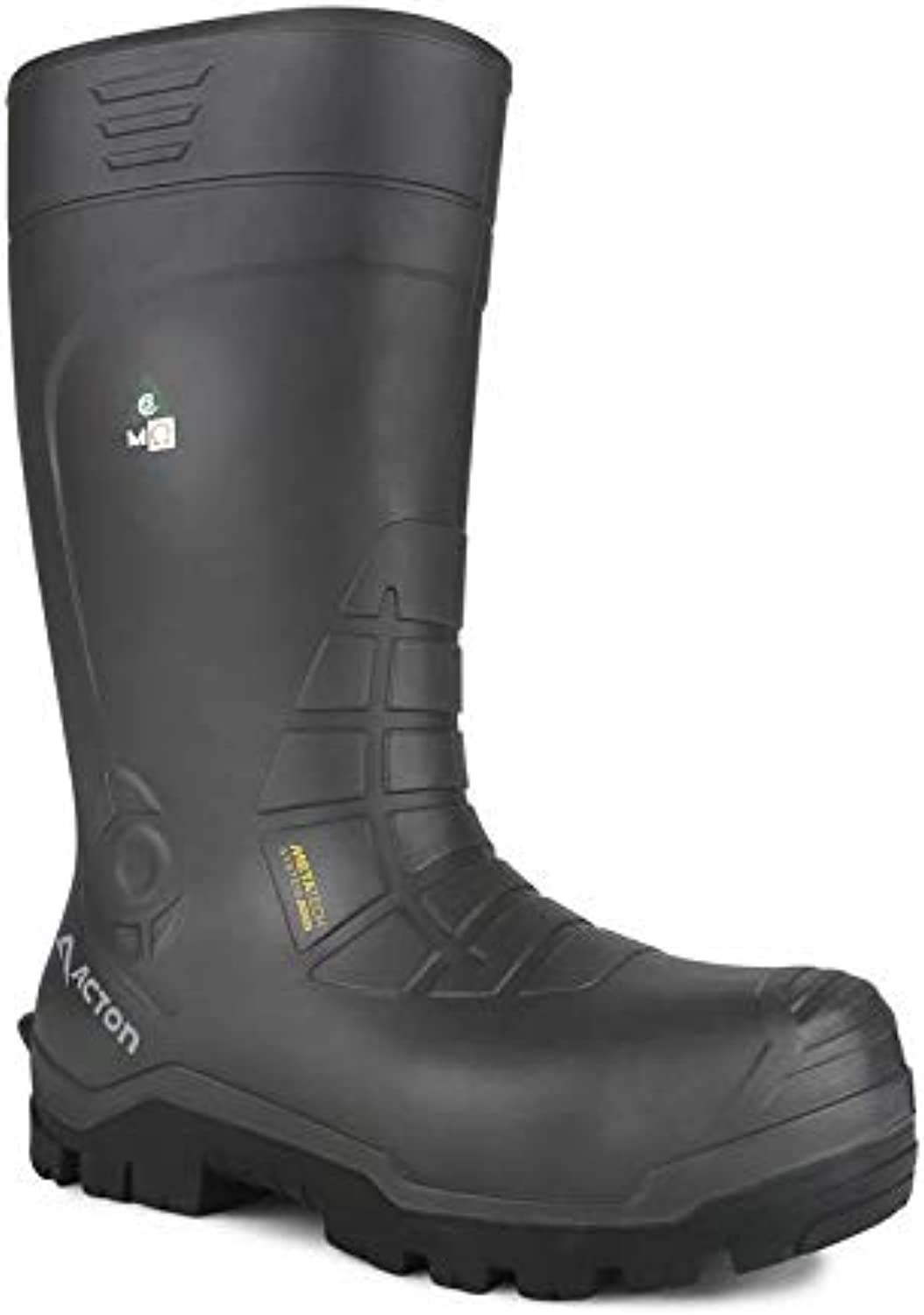 Acton All Weather Rubber Safety Boot, Black