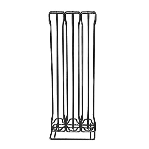 Fenteer Coffee Pod Holder, for Nespreso Capsule Holder, Coffee Pod Holder, Storage Rack Stand Iron Wire Display Shelf - Black