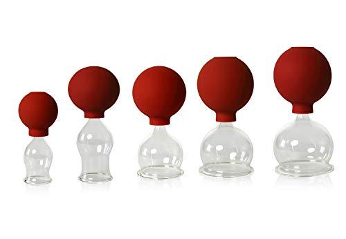 Lauschaer Glas -  5er Schröpfglas-Set