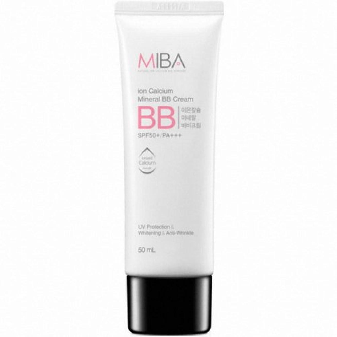 半島面白いブラケットMINERALBIO (ミネラルバイオ) ミバ イオン カルシウム ミネラル ビビクリーム / MIBA Ion Calcium Mineral BB Cream (50ml) [並行輸入品]