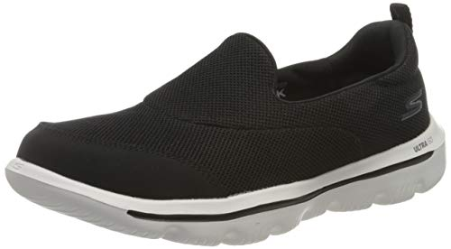 Skechers Women's GO WALK EVOLUTION ULTRA-REACH Slip On Trainers, Black Textile/White Trim BKW), 5 UK, (38 EU)
