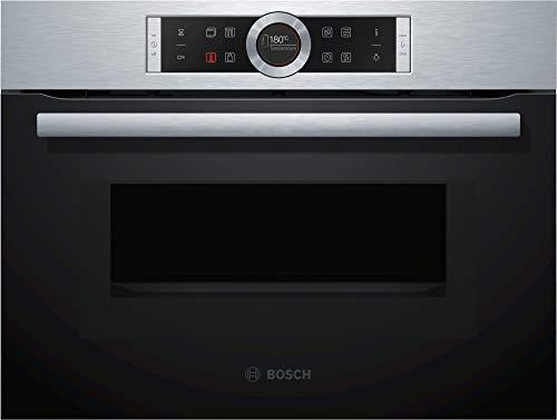 Bosch serie 8 - Horno compacto con microondas cmg633bs1 inoxidable